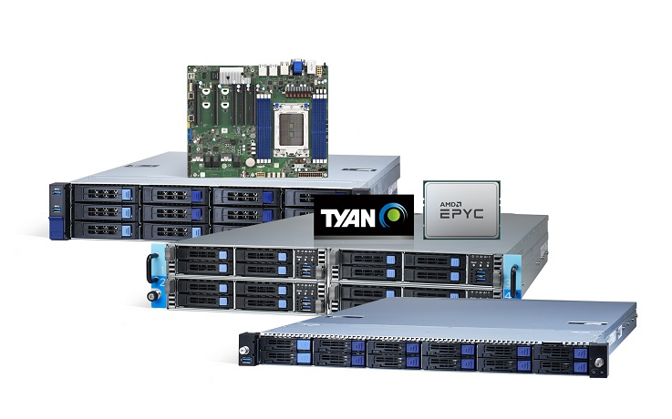 TYAN's New Cloud and Storage Platforms Powered by AMD EPYC Processors are Designed for Morden Data Centers and Enterprises.